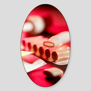 Stop smoking aids Sticker (Oval)