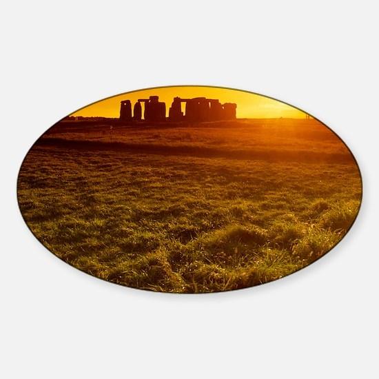 Stonehenge at sunset Sticker (Oval)