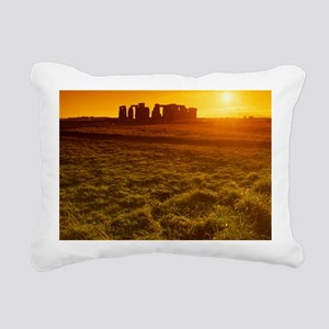 Stonehenge at sunset Rectangular Canvas Pillow