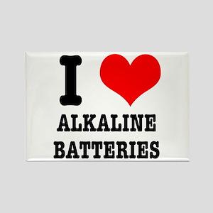I Heart (Love) Alkaline Batteries Rectangle Magnet