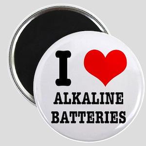 I Heart (Love) Alkaline Batteries Magnet
