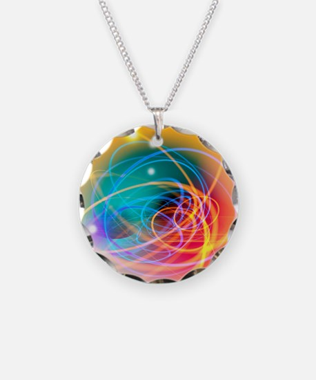 Subatomic particles abstract Necklace