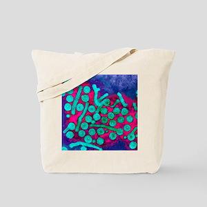Hepatitis B viruses, TEM Tote Bag