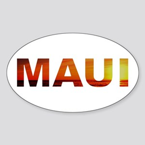 Maui, Hawaii Oval Sticker