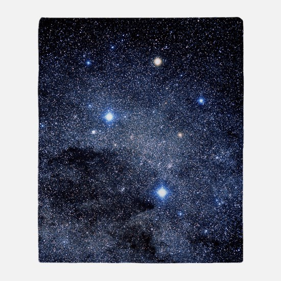 The constellation of the Southern Cr Throw Blanket