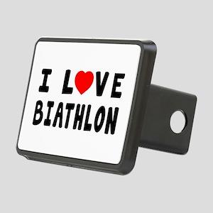 I Love Biathlon Rectangular Hitch Cover