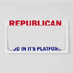 republican platform License Plate Holder