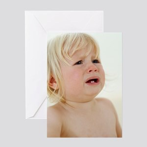Teething baby girl Greeting Card