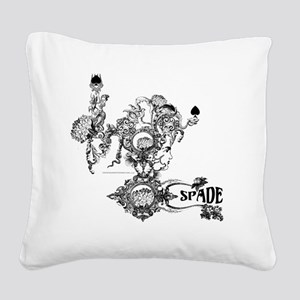 Skin The Queen of Spades Square Canvas Pillow