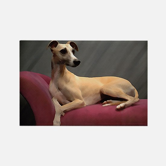 Whippet Lounge Rectangle Magnet