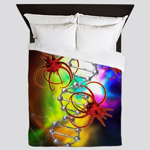 Viruses attacking a cell's DNA Queen Duvet