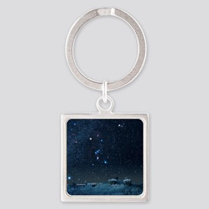 Winter sky with Orion constellatio Square Keychain