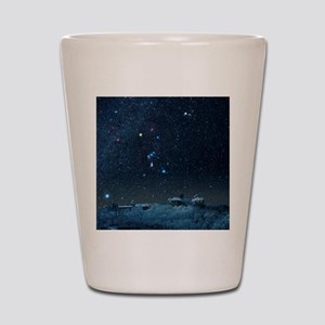 Winter sky with Orion constellation Shot Glass