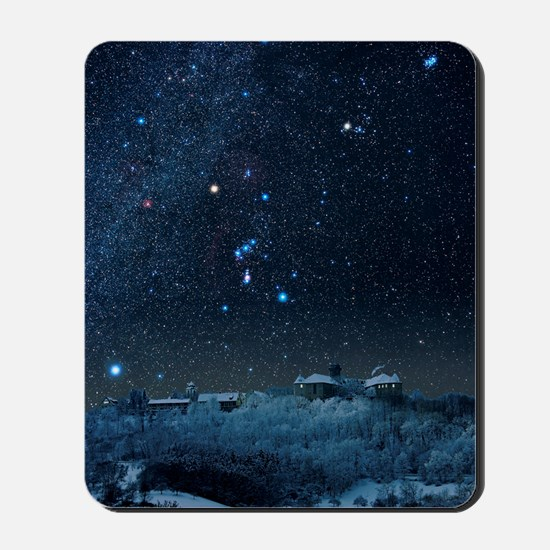 Winter sky with Orion constellation Mousepad