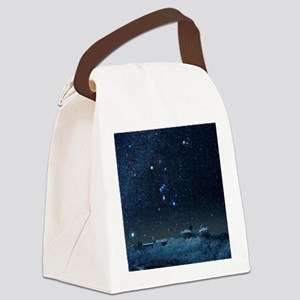 Winter sky with Orion constellati Canvas Lunch Bag