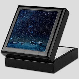 Winter sky with Orion constellation Keepsake Box