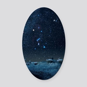 Winter sky with Orion constellatio Oval Car Magnet