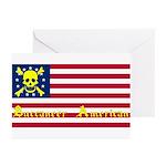 Buccaneer American Blank Greeting Cards, 6