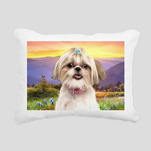 meadow(laptop) Rectangular Canvas Pillow
