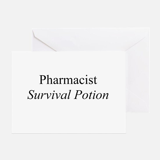 Pharmacist Survival Potion Greeting Card