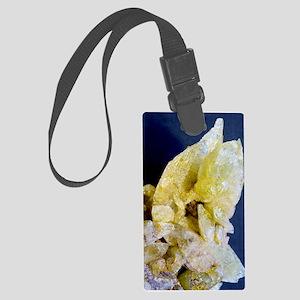 Brazilianite crystals Large Luggage Tag