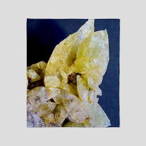 Brazilianite crystals Throw Blanket