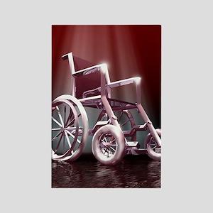 Wheelchair Rectangle Magnet