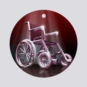 Wheelchair Round Ornament