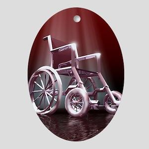 Wheelchair Oval Ornament