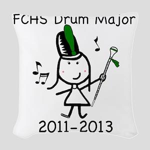 Drum Major - FCHS Woven Throw Pillow