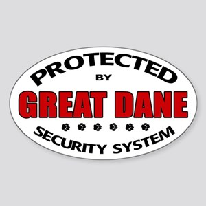 Great Dane Security Sticker (Oval)