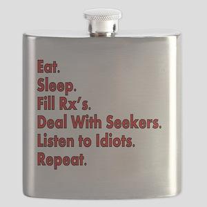 pharmacist eat sleep deal w seeks RED Flask