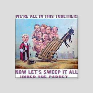 "T-Shirt: Leveson Inquiry Square Sticker 3"" x 3"""
