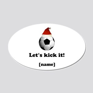 Personalized Lets Kick It! - Xmas Wall Decal Stick