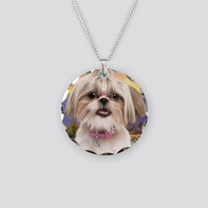 meadow(blanket) Necklace Circle Charm