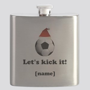 Personalized Lets kick it! - Xmas Flask