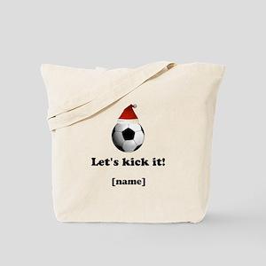 Personalized Lets Kick It! - Xmas Tote Bag