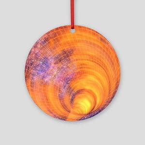 Wormhole Round Ornament