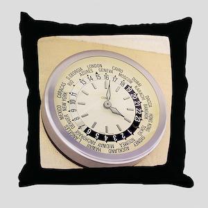 World clock Throw Pillow