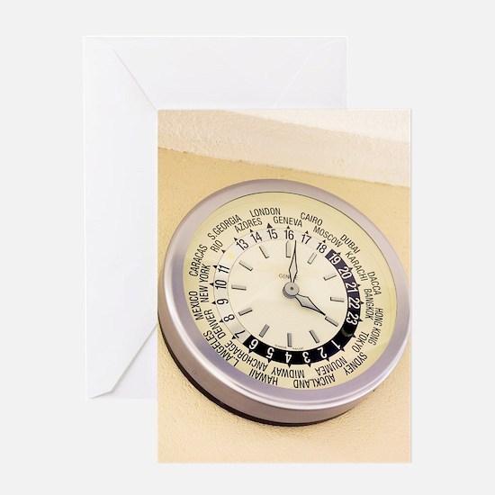 World clock Greeting Card