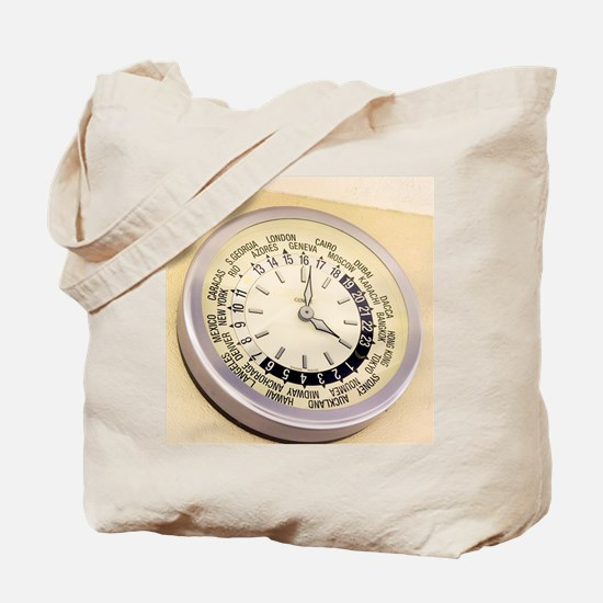 World clock Tote Bag