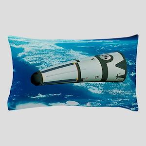 Art of Roton rocket in orbit Pillow Case