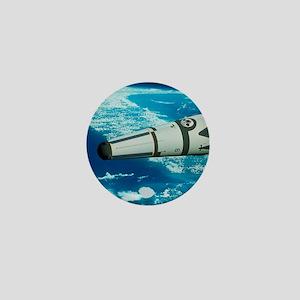 Art of Roton rocket in orbit Mini Button