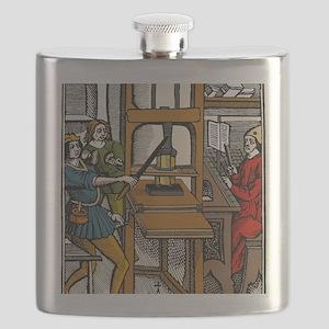 16th century printing press Flask