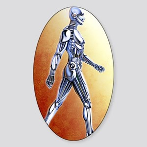 Android robot Sticker (Oval)