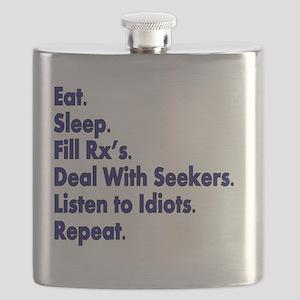 Pharmacist eat sleep deal with seekers Flask