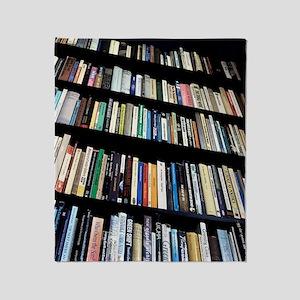 Books on bookshelves Throw Blanket