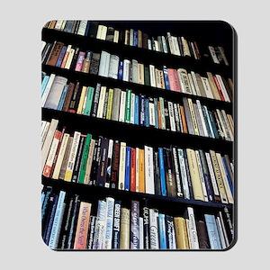 Books on bookshelves Mousepad