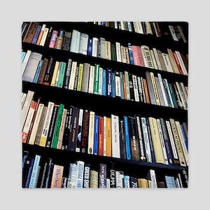 Books on bookshelves Queen Duvet