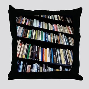 Books on bookshelves Throw Pillow